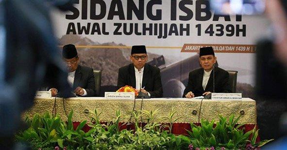 Pemerintah Tetapkan Hari Idul Adha Jatuh pada Rabu 22 Agustus 2018